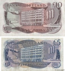 5 et 10 Pounds Lot NORTHERN IRELAND  1980 P.066b et P.067b VF-