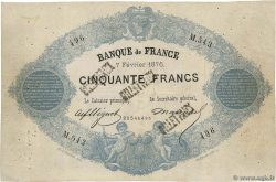 50 Francs type 1868 Indices Noirs Faux FRANCE  1876 F.A38.10x VF