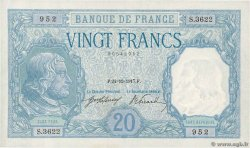20 Francs BAYARD  FRANCE  1917 F.11.02 SUP+