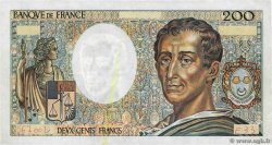 200 Francs MONTESQUIEU Fauté FRANCE  1985 F.70.05 TTB