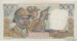 500 Francs FRENCH WEST AFRICA  1953 P.41 XF