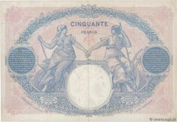 50 Francs BLEU ET ROSE FRANCE  1924 F.14.37 VF+