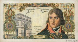 10000 Francs BONAPARTE FRANCE  1956 F.51.02 VF