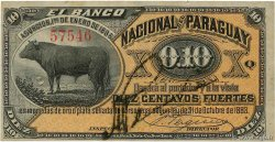 10 Centavos PARAGUAY  1886 PS.142 SUP