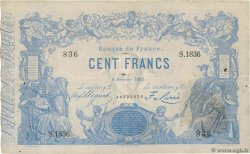100 Francs type 1862 Indices Noirs FRANCIA  1882 F.A39.18 BC+