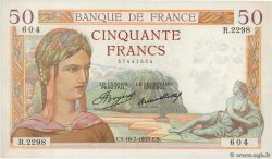 50 Francs CÉRÈS  FRANCE  1935 F.17.13 SUP