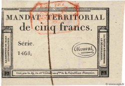 5 Francs Monval cachet rouge FRANCE  1796 Ass.63c pr.NEUF