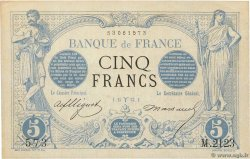 5 Francs NOIR FRANCE  1873 F.01.16 SUP+