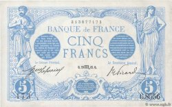 5 Francs BLEU FRANCE  1915 F.02.32 XF-