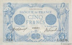 5 Francs BLEU FRANCE  1916 F.02.43 XF-