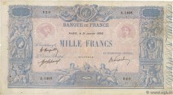 1000 Francs BLEU ET ROSE FRANCE  1920 F.36.35 TB