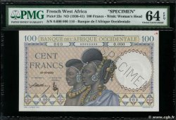 100 Francs Spécimen FRENCH WEST AFRICA (1895-1958)  1936 P.23s