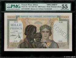 1000 Francs Spécimen FRENCH WEST AFRICA (1895-1958)  1937 P.24s