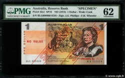 1 Dollar Spécimen AUSTRALIA  1974 P.42as UNC-