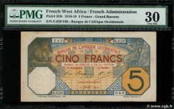 5 Francs GRAND-BASSAM  FRENCH WEST AFRICA Grand-Bassam 1919 P.05Db
