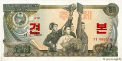 50 Won Spécimen NORTH KOREA  1978 P.21s UNC