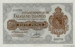 50 Pence FALKLAND ISLANDS  1974 P.10b UNC