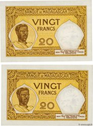 20 Francs Lot MADAGASCAR  1948 P.037 NEUF