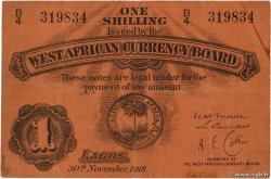 1 Shilling  BRITISH WEST AFRICA  1918 P.01 F