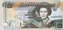 100 Dollars EAST CARIBBEAN STATES  1993 P.30g fST+