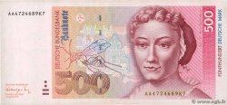 500 Deutsche Mark  GERMAN FEDERAL REPUBLIC  1991 P.43a BB