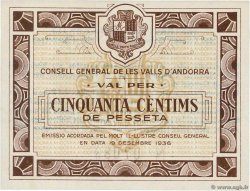 50 Centims  ANDORRE  1936 P.05