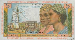 5 Francs  FRENCH ANTILLES  1966 P.07b VZ