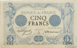 5 Francs NOIR FRANCE  1873 F.01.20 XF+