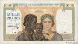 1000 Francs  FRENCH WEST AFRICA  1945 P.24