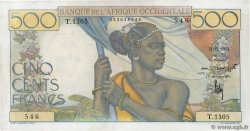 500 Francs  FRENCH WEST AFRICA  1953 P.41