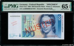 100 Deutsche Mark Spécimen GERMAN FEDERAL REPUBLIC  1989 P.41as UNC-
