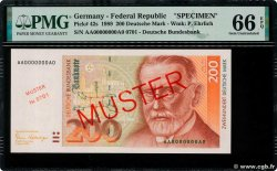 200 Deutsche Mark Spécimen GERMAN FEDERAL REPUBLIC  1989 P.42as FDC