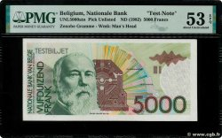 5000 Francs Test Note BELGIO  1992 P.-