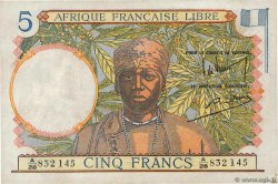 5 Francs  FRENCH EQUATORIAL AFRICA Brazzaville 1941 P.06a VF