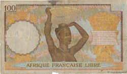 100 Francs  FRENCH EQUATORIAL AFRICA Brazzaville 1941 P.08 VG
