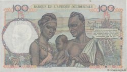 100 Francs  FRENCH WEST AFRICA  1951 P.40 XF+