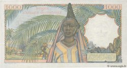 1000 Francs  FRENCH WEST AFRICA (1895-1958)  1953 P.42 VF