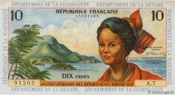 10 Francs  FRENCH ANTILLES  1966 P.08b