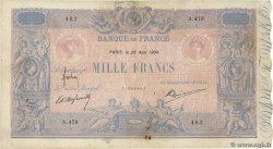 1000 Francs BLEU ET ROSE  FRANCE  1904 F.36.18 F