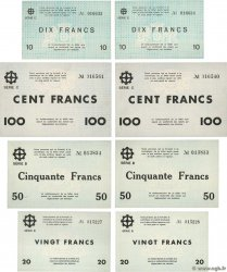 10 à 100 Francs Lot FRANCE régionalisme et divers Mulhouse 1940 BU.50 à 53 pr.NEUF