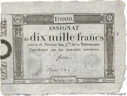 10000 Francs  FRANCE  1795 Ass.52a VF+