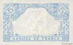 5 Francs BLEU  FRANCE  1915 F.02.26 XF