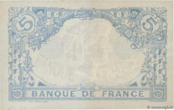 5 Francs BLEU  FRANCE  1916 F.02.39 VF+