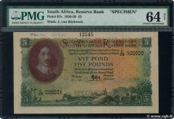 5 Pounds Spécimen SOUTH AFRICA  1953 P.097bs UNC-