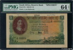 5 Pounds Spécimen SOUTH AFRICA  1958 P.097cs UNC-