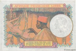 5 Francs  FRENCH EQUATORIAL AFRICA Brazzaville 1941 P.06a XF