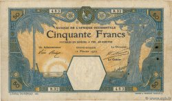 50 Francs GRAND-BASSAM  FRENCH WEST AFRICA Grand-Bassam 1920 P.09Da