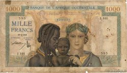 1000 Francs  FRENCH WEST AFRICA  1941 P.24
