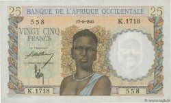 25 Francs  FRENCH WEST AFRICA (1895-1958)  1943 P.38