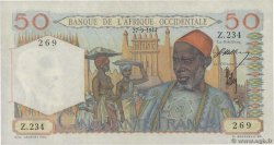 50 Francs  FRENCH WEST AFRICA  1944 P.39 AU